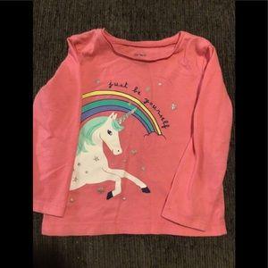 Carter pink pony long sleeve shirt